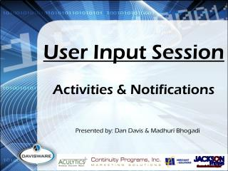 User Input Session