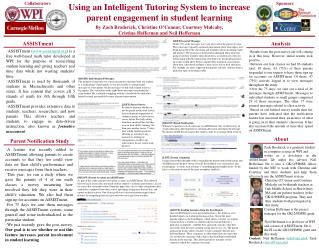 Using an Intelligent Tutoring System to increase  parent engagement in student learning