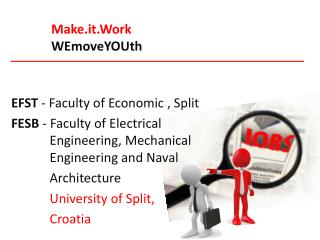 EFST - Faculty  of Economic , Split