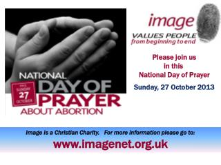 Please join us in this  National Day  of Prayer Sunday, 27  October 2013