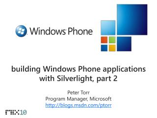 building Windows Phone applications with Silverlight, part 2