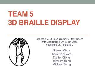Team 5 3D Braille Display
