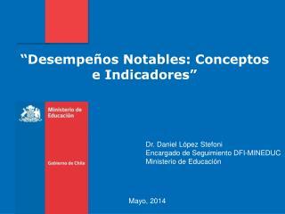 """""""Desempeños Notables: Conceptos e Indicadores"""""""