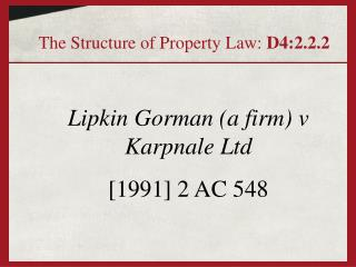 Lipkin Gorman a firm v Karpnale Ltd  [1991] 2 AC 548