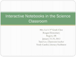 Interactive Notebooks in the Science Classroom