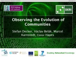 Observing the Evolution of Communities