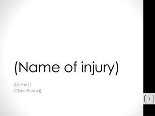 (Name of injury)