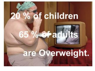 Years of life lost at  age 40 in overweight and obese compared to normal weight, non-smokers.