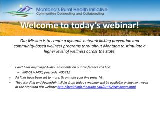 Welcome to today's webinar!