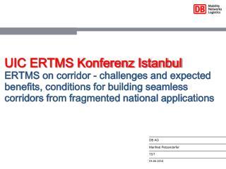 UIC ERTMS Konferenz Istanbul