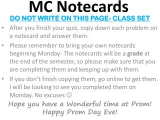 MC Notecards