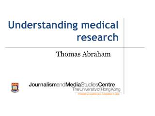 Understanding medical research
