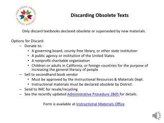 Discarding Obsolete Texts