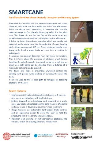 SMARTCANE An Affordable Knee above Obstacle Detection and Warning System
