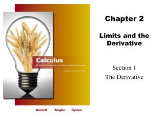 Chapter  2 Limits and the Derivative