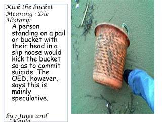 Kick the bucket Meaning : Die