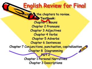 English Review for Final