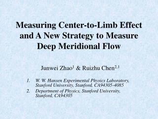 Measuring Center-to-Limb Effect and A New Strategy to Measure Deep  Meridional  Flow