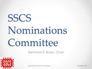 SSCS Nominations Committee