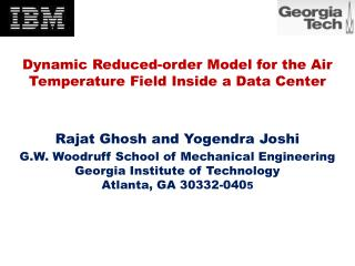 Dynamic Reduced-order Model for the Air Temperature Field Inside a Data Center