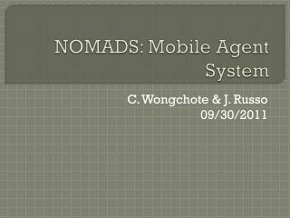 NOMADS: Mobile Agent System