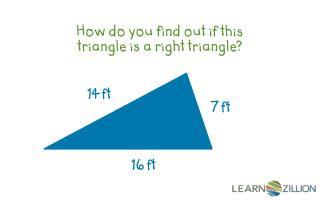 How do you find out if this triangle is a right triangle?