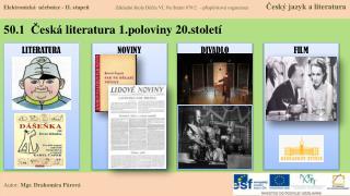 50.1  Česká  literatura  1.poloviny 20.století