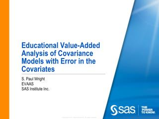 Educational Value-Added Analysis of Covariance Models with Error in the Covariates