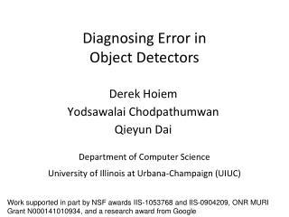 Diagnosing Error in Object Detectors