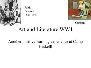 Art and Literature WW1