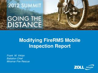 Modifying FireRMS Mobile Inspection Report