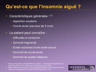 Qu'est-ce que l'insomnie aiguë ?