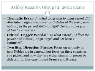 Ashley Rosario, Group#4,  2002  Exam