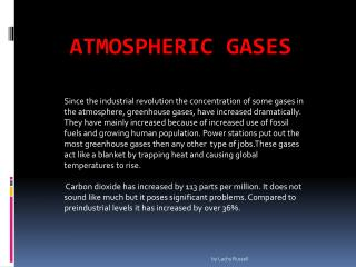 Atmospheric Gases