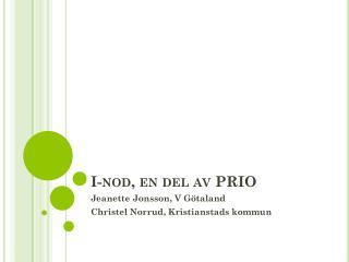 I-nod, en del av PRIO