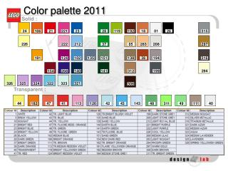 Color palette 2011