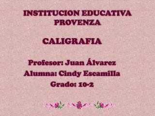 INSTITUCION EDUCATIVA PROVENZA