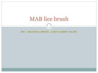MAB lice brush