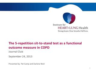 The 5-repetition sit-to-stand test as a functional outcome measure in COPD