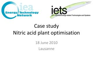 Case study Nitric acid plant optimisation