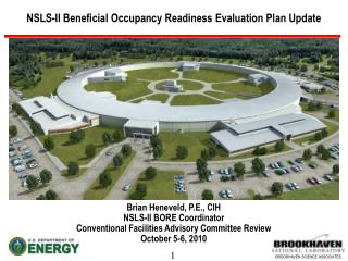 NSLS-II Beneficial Occupancy Readiness Evaluation Plan Update