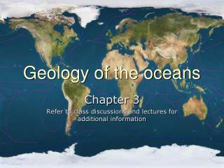 Geology of the oceans