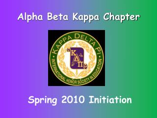 Alpha Beta Kappa Chapter