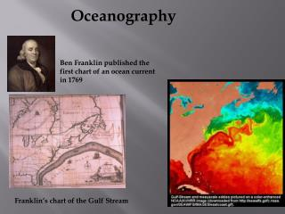 Ben Franklin published the first chart of an ocean current in 1769