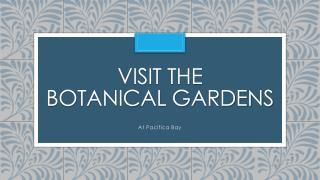 Visit the Botanical Gardens