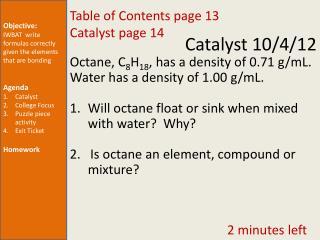 Catalyst  10/4/12