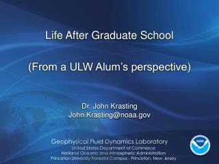 Life After Graduate School (From a ULW Alum's perspective)