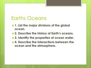 Earths Oceans
