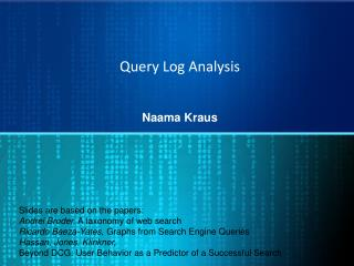 Query Log Analysis