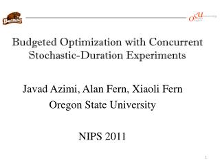 Budgeted Optimization with Concurrent Stochastic-Duration Experiments